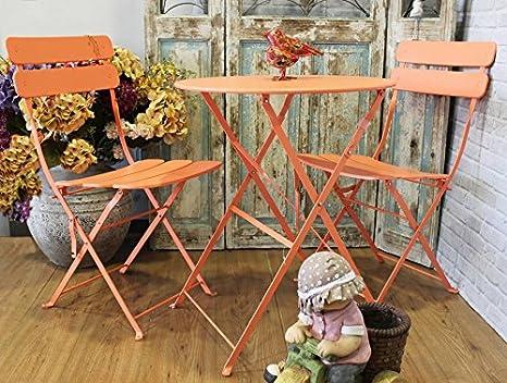 Sedie Vintage Colorate : Keyhome set arredo giardino tavolo e 2 sedie in ferro colorato