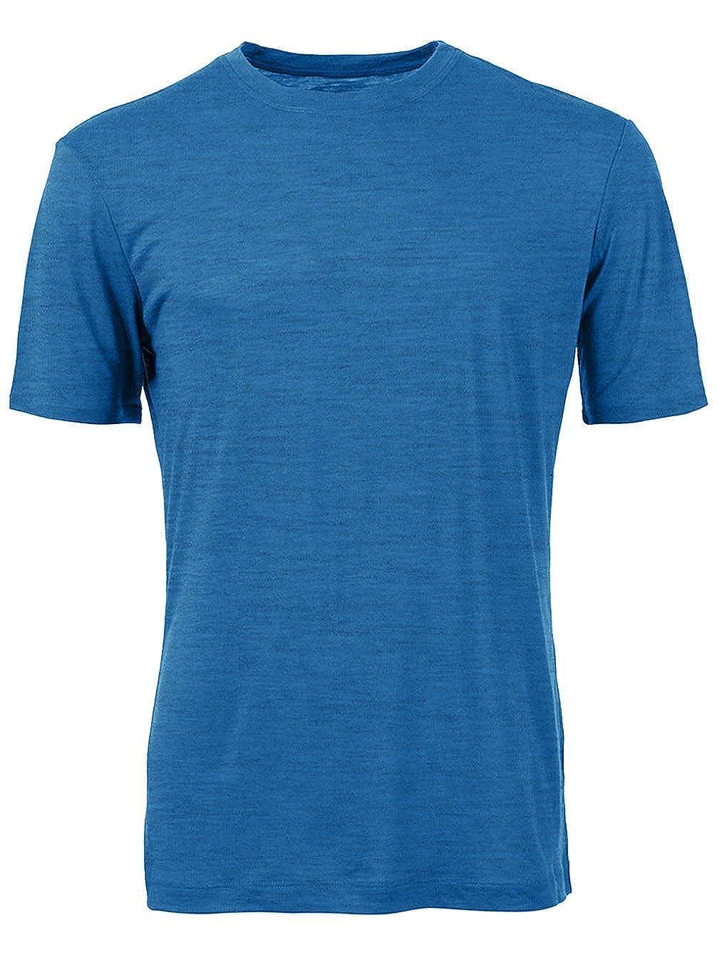 Sport und Freizeit aus 100/% exklusiver Merinowolle DILLING Merino T-Shirt f/ür Herren optimal f/ür Alltag