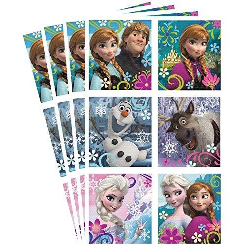 disney frozen elsa anna olaf sven kristoff hallmark party 4 sheets stickers new(pack of 6)