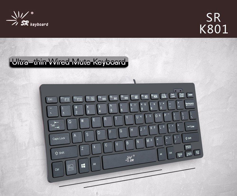 SR Mini Keyboard Wired Thin portable 78 Keys Usb Multimedia Small ...