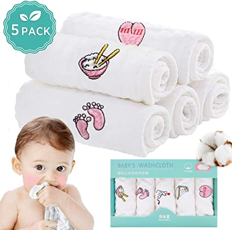 Muselinas Toallas para Bebés, 100% Algodón Natural Toallitas para ...