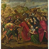 'Ridolfo Ghirlandaio The Procession to Calvary ' oil painting, 30 x 31 inch / 76 x 79 cm ,printed on high quality polyster Canvas ,this High Definition Art Decorative Canvas Prints is perfectly suitalbe for Bar decor and Home gallery art and Gifts