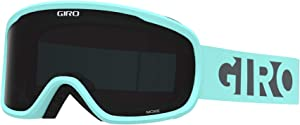 Giro Moxie Womens Snow Goggles - Cool Breeze Charcoal Blocks Strap with Ultra Black/Yellow Lenses (2021)