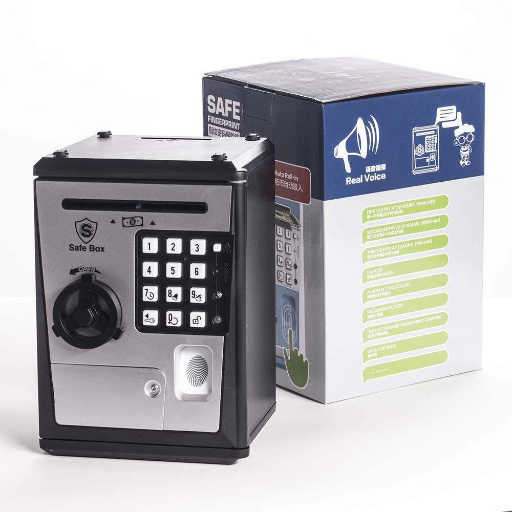 LIKE Toy Piggy Bank Safe Box Fingerprint ATM Bank ATM Machine Money Coin Savings Bank for Kids by LIKE (Image #6)