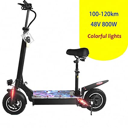 FZ FUTURE Plegable Scooter Eléctrico, 800W High Power Smart ...