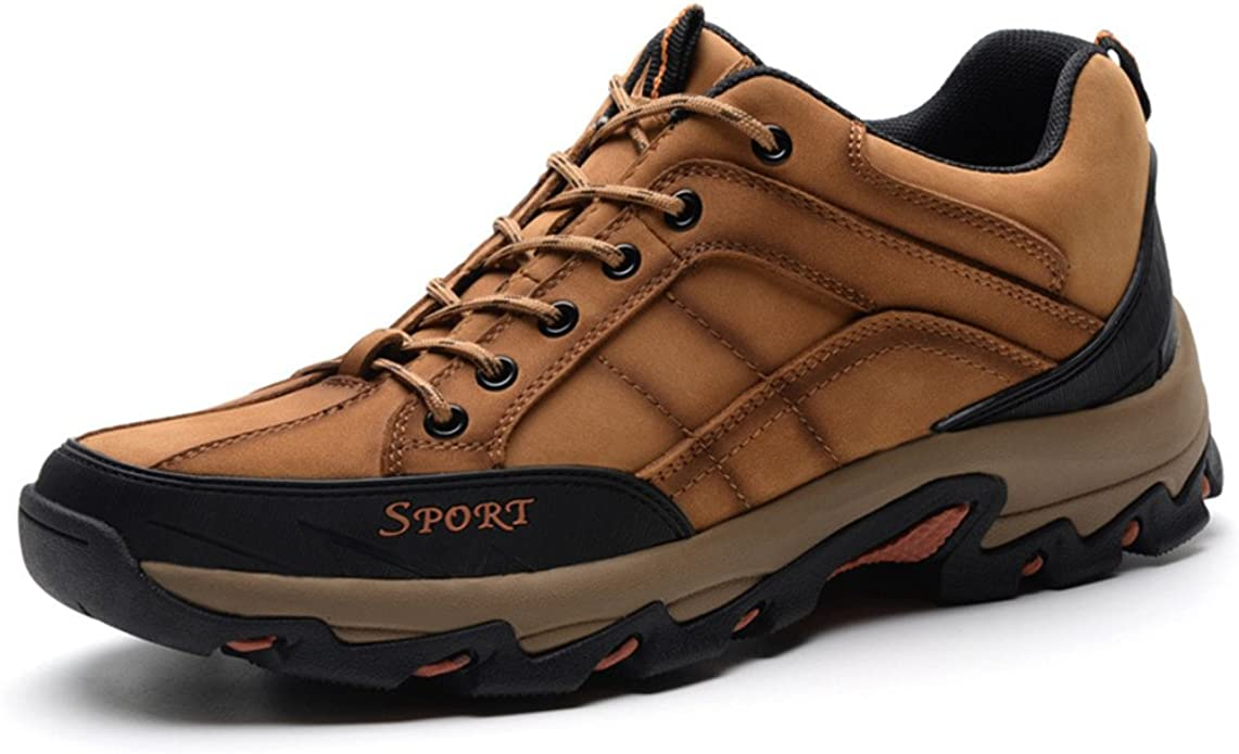 ailishabroy Les Chaussures d'escalade en Cuir Nubuck Basses supérieures imperméabilisent Les Chaussures de Sport de Marche