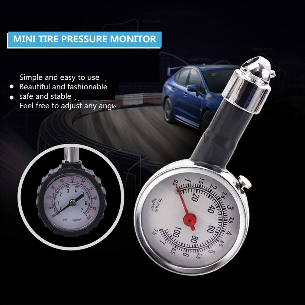 CWWHY Reifendruck-Messger/ät-Tester f/ür Luftdruckpr/üfger/ät f/ür PKW Motorr/äder LKW