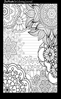 Coloring Journal Black Therapeutic For Writing Journaling And Note