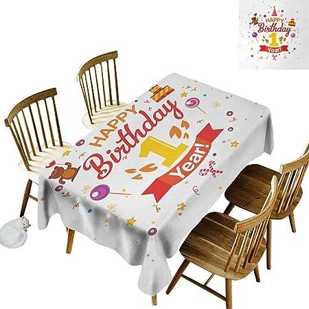 Mantel francés W52 x L70 1er cumpleaños Fiesta con Conos Oso ...