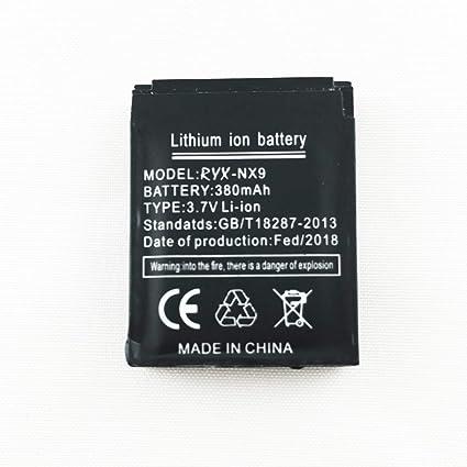 Reloj inteligente batería RYX-NX9 batería de litio recargable con capacidad 380MAH