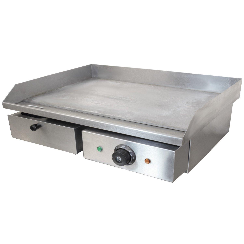 Chef-Hub - Parrilla eléctrica de acero inoxidable para ...
