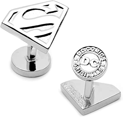 Superman DC Comics Officially Licensed Shield Cufflinks Silver