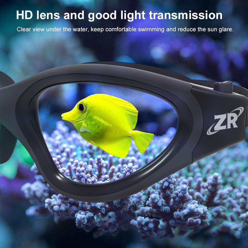 Zionor Swimming Goggles G1 Polarized Swim Goggles with Mirror//Smoke Lens UV Protection Watertight Anti-Fog Adjustable Strap Comfort fit for Unisex Adult Men and Women Teenagers