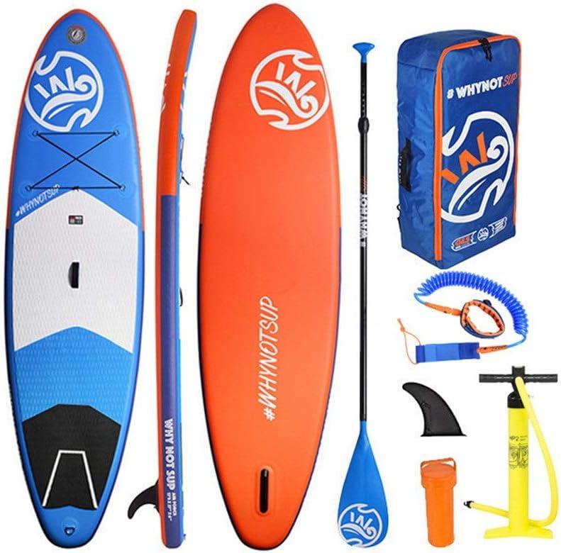 ポータブル湖SUPパドルボードサーフボードスタンドアップボードインフレータブルボードセットパドル、エアポンプ、修理キットと収納袋 ウォータースポーツサーフボード (色 : 青, サイズ : 310x84x15cm) 青 310x84x15cm