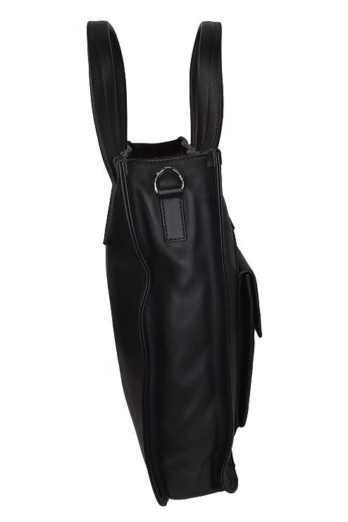 a0f8609df26d Amazon.com  Salvatore Ferragamo Park Tote Messenger Bag 249721 Messenger Bag  Black One Size  Clothing