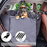 Siivton Dog Seat Covers with Side Flaps, Car Seat Covers for Dogs Pet Seat Cover Hammock Waterproof Nonslip Backing for SUVs, Trucks, Cars Back Or Front Seat