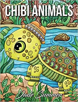 Chibi Animals A Cute Coloring Book With Fun Simple And Adorable Animal Drawings Perfect For Beginners Lovers Large Print