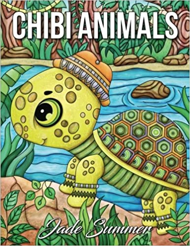 Amazoncom Chibi Animals A Cute Coloring Book with Fun Simple