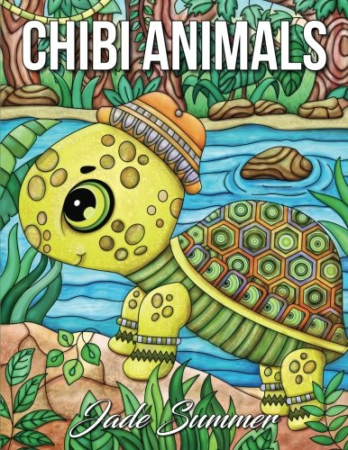 Chibi Animals: A Cute Coloring Book with Fun, Simple, and Adorable Animal Drawings (Perfect for Beginners and Animal Lovers) cover