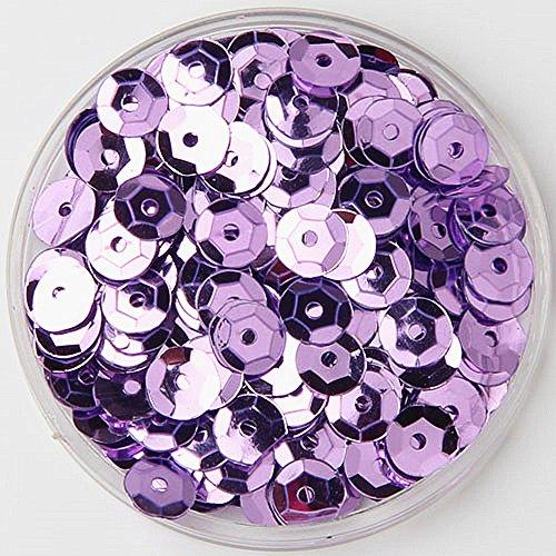 Hot sale 1000pcs 6mm Bright Bling Purple Sew on Applique Trim Cup Hologram PVC Loose Sequin Paillettes Sewing for DIY Wedding Dress Craft Garment Scrapbook Material