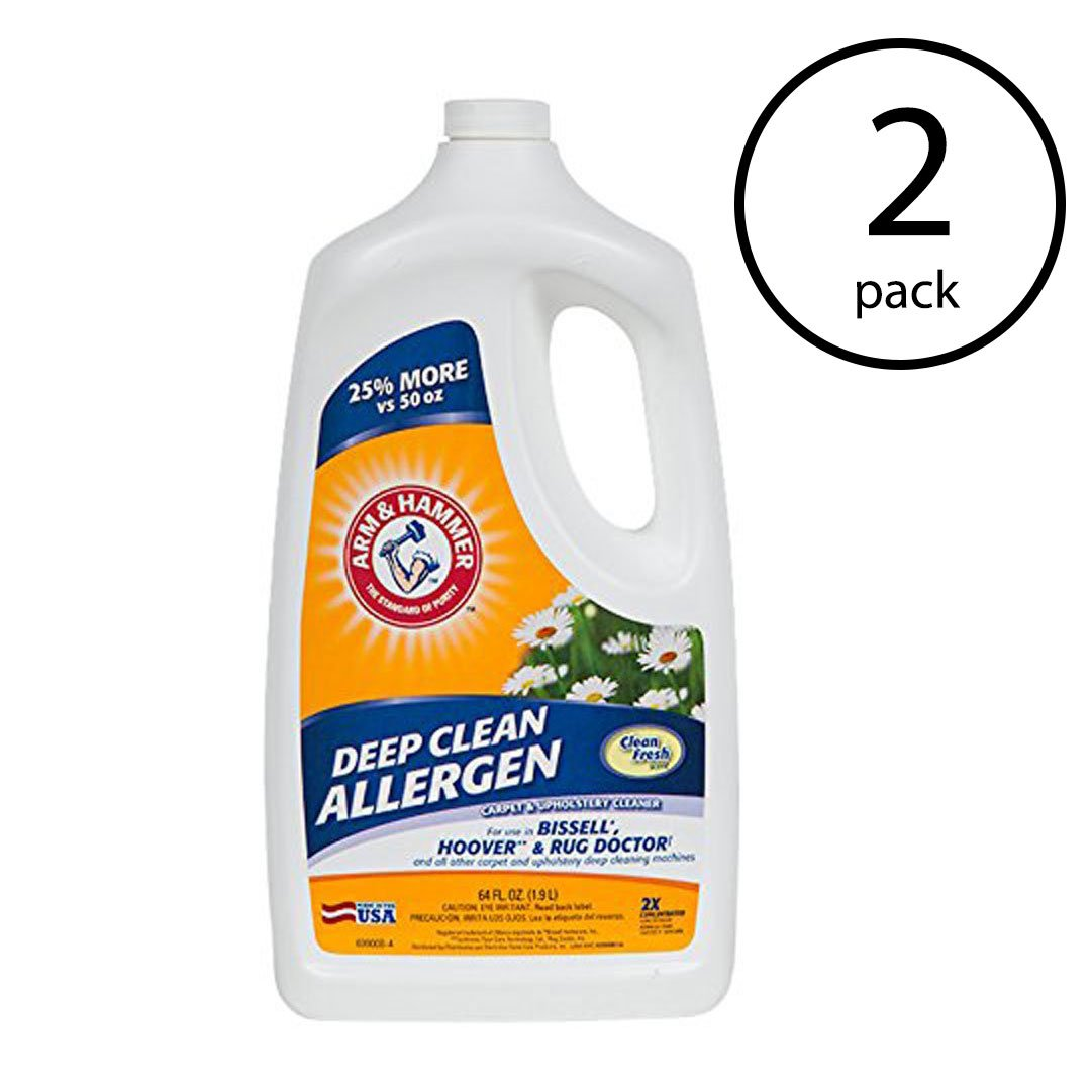 Arm & Hammer 64 Ounce Professional Strength Carpet Washer Extractor (2 Pack)
