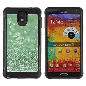 Suave TPU Caso Carcasa de Caucho Funda para Samsung Note 3 / Glitter Moss Winter Dew Diamond / STRONG