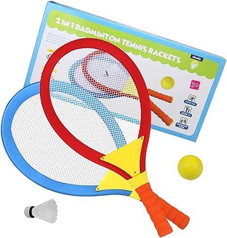 1 Paio di Racchette da Badminton per Bambini per Bambini Giocattoli Sportivi per Bambini attivit/à per attivit/à allaperto//al Coperto MZY1188 Vestito da Racchetta da Badminton