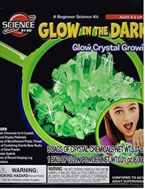 Kids Glow in the DARK Glow Crystal Growing Set. by Glow In The Dark