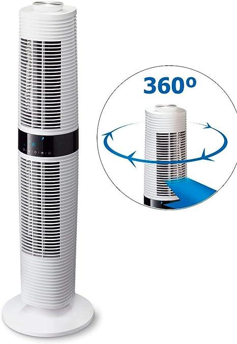 Ventilador de torre de diseño Clean Air Optima CA-406W: Amazon.es ...