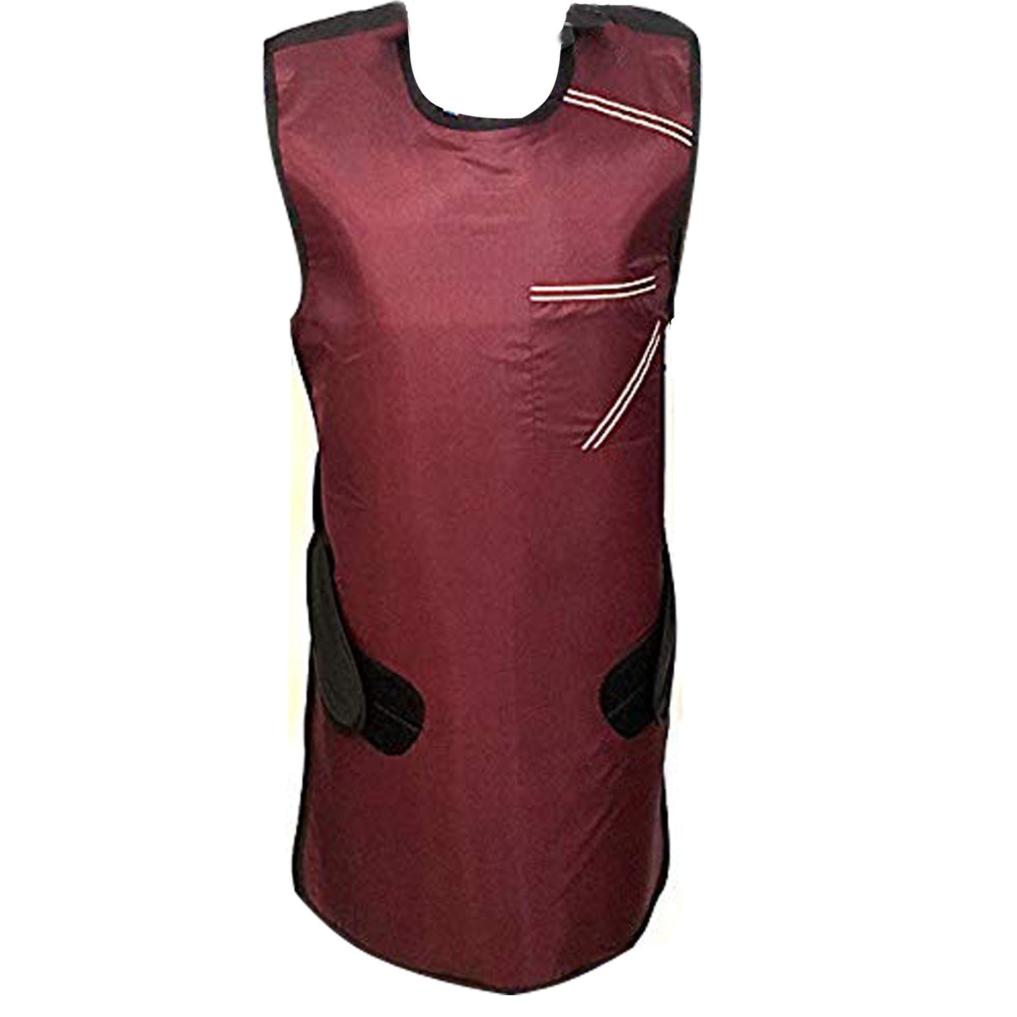 HealthGoodsIn - Lead Apron 0.5mm Lead (pb) Equivalency Protection for Working with X-Ray Machine | Lead Apron with Robust Hanger for Hospitals, Labs, Nursing Homes, Etc. (Maroon)