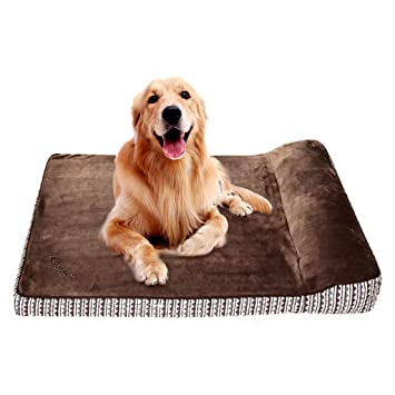 Cama para mascotas Funda de Almohada Cama ortopédica para Perros Memoria Esponja Corto Salón de Felpa