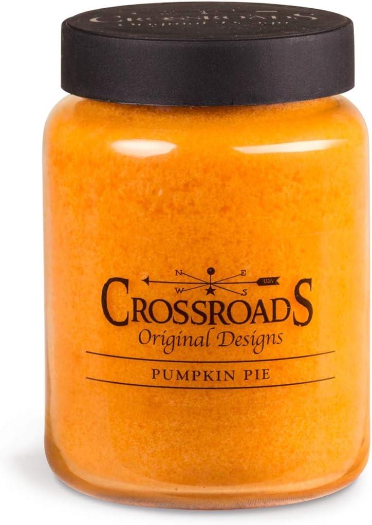 Crossroads PP26 Pumpkin Pie Jar Candle, 26 ounce