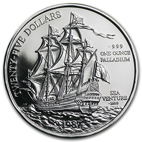 1987 BM Bermuda 1 oz Palladium Sea Venture Proof 1 OZ About Uncirculated
