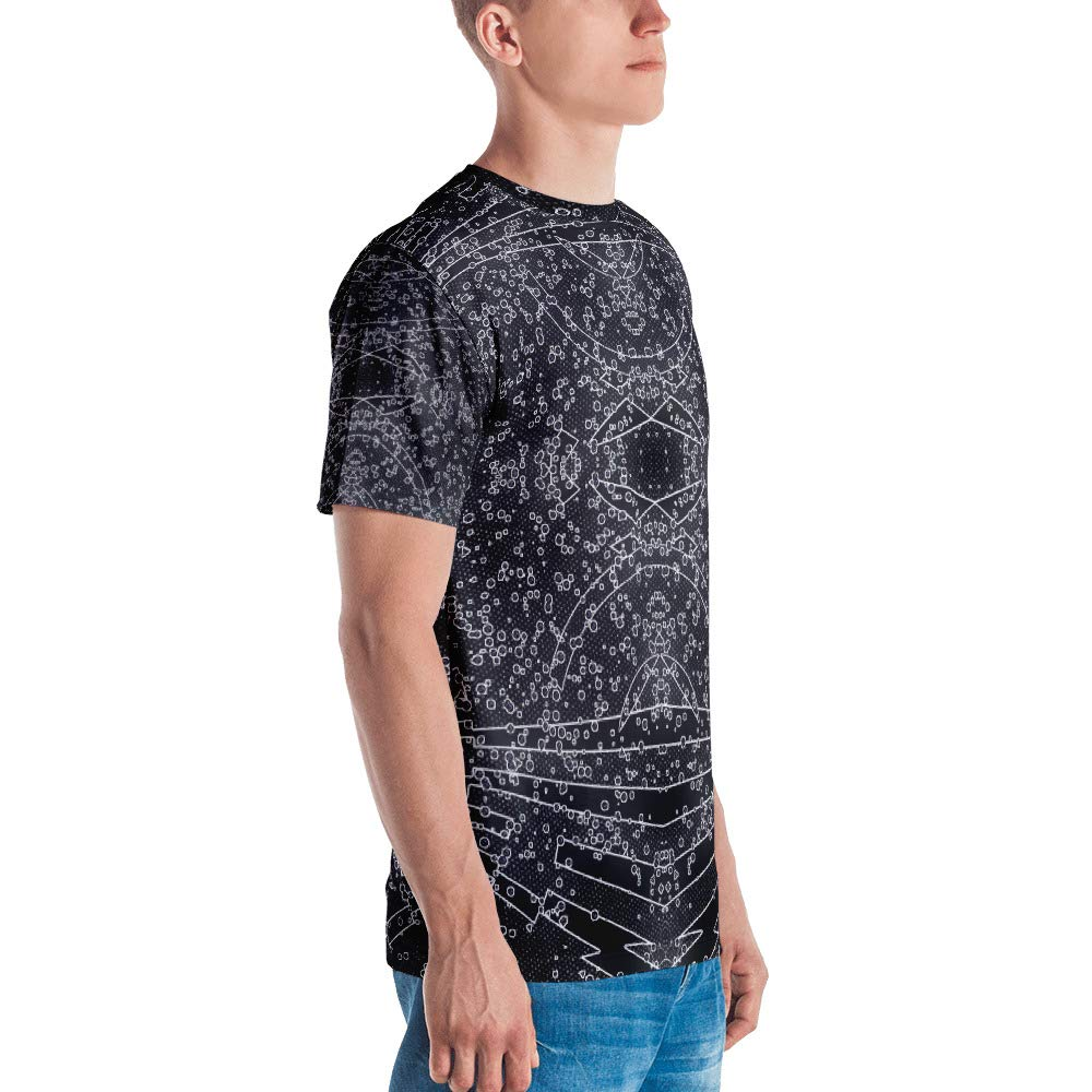 Full Print Premium Knit 100/% Polyester Jersey Spellbound Clothing Mens T-Shirt Spatial Probability