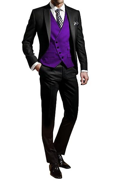 George Herren Trajes de Etiqueta Smoking del Juego de la Chaqueta de los Trajes de 3 Piezas Chaqueta de Traje Conjunto, Pantalones de Vestir, Chaleco ...