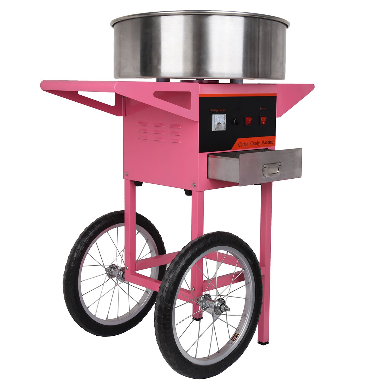 Iglobalbuy Candy Floss Machine,1300W electric Candy Cotton Maker Pink