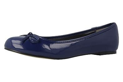 Damen Ballerinas - Blau Schuhe in Übergrößen, Größe:43 Andres Machado