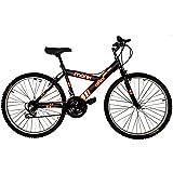 """Bicicleta Económica de Montaña con Propiedades Reflejantes Modelo """"Starbike Reflex"""", Rodada 26 18 Velocidades (Negra)"""