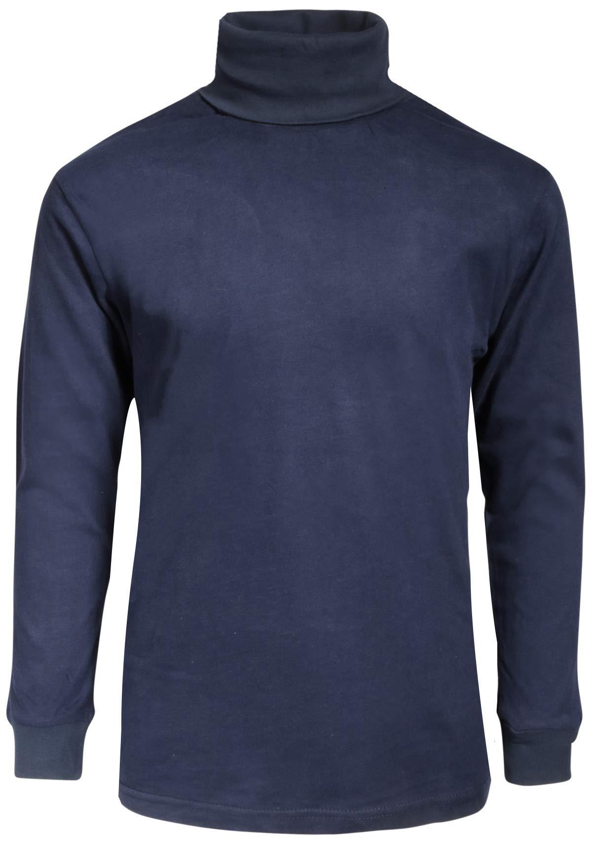 Beverly Hills Polo Club Boy's School Uniform 2-Pack Long Sleeve Turtleneck Shirts, Navy/Navy, 8/10' by Beverly Hills Polo Club (Image #2)