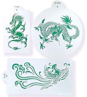amazon com dragon stencil size 7 w x 7 h reusable wall stencils