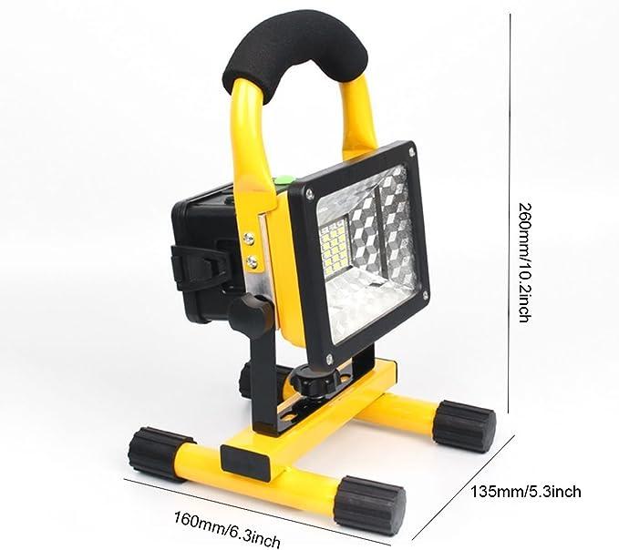 Keeda Lumière Dinondation De Travail De Led 30w 24 Led Projecteur Durgence Rechargeable Lumière Portable Hand Lamplumières Extérieures De