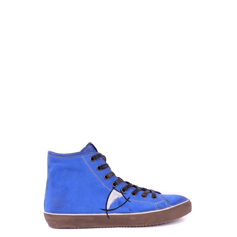 Philippe Model Hombre MCBI238025O Azul Gamuza Zapatillas Altas 40 IT - Tamaño de la Marca 40