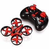 EACHINE E010 Mini Quadcopter Drone for Kids 2.4G 4CH 6Axis 3D Flip Gyro Headless Mode One Key Return RC Nano Helicopter RTF (Red)