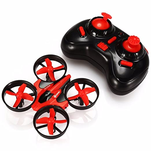 EACHINE Mini Quadcopter Drone, E010 2.4GHz 6-Axis Gyro Remote Control Nano Drone for Beginners Adults - Headless Mode, 3D Flip, One Key Return (Red)