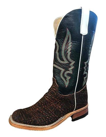 c344b69e731 Amazon.com | Olathe Western Boots Mens Leather Cowboy Elephant Skid ...