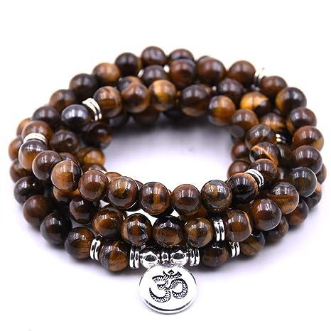 108 cuentas naturales Mala Yoga joyería meditación cuentas ...