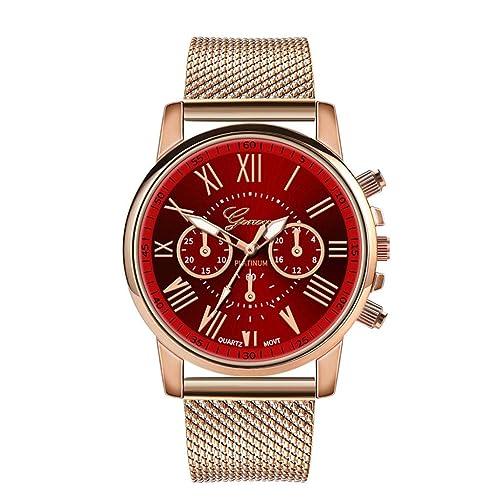 Amazon.com: Geetobby - Reloj de cuarzo para mujer, esfera de ...