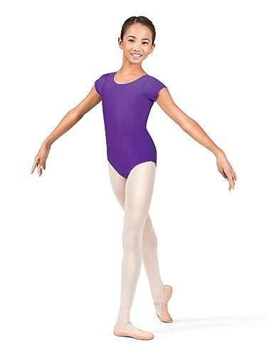 92e4e14cb Amazon.com  Child Short Sleeve Dance Leotard D5102C  Clothing