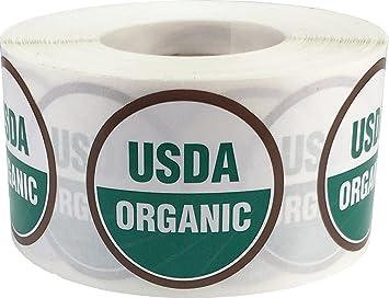 Amazon.com : USDA Organic Labels 1 1/2 Inch Round Circle Dots 500 ...