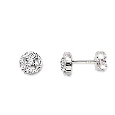 THOMAS SABO Women Ear studs white stone 925 Sterling Silver Zirconia White H1739-051-14 6621zDyp